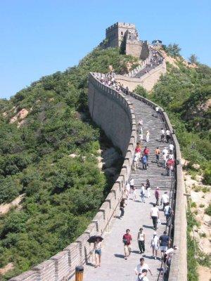 den kinesiske mur fra rummet