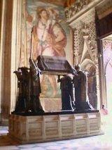 Christoffer Columbus grav i domkirken i Sevilla