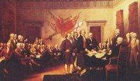 Underskrivning af den amerikanske uafhængighedserklæring