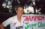 Den danske superløber Jesper Olsen, der som den første har gennemført en løbetur rundt om jorden