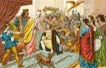 Columbus modtages ved hoffet efter sin 1. rejse - klik for at l�se mere