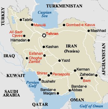 kort over irak