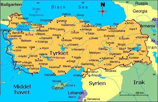 Tyrkiet Med Fokus Pa Nyere Tid