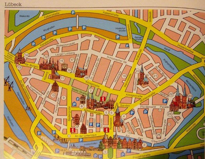 kort over lübeck julemarked