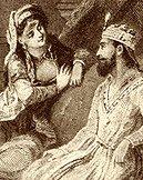Dronning Scheherazade fortælle sine 1001 eventyr til kong Shahryar