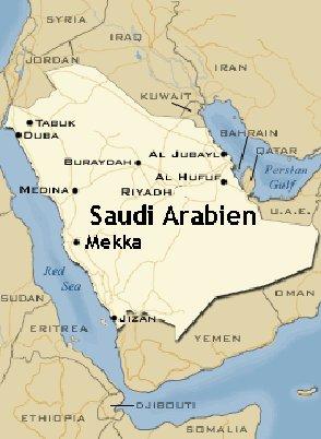 Den arabiske halvø, hvor Islam opstod i 600-tallet