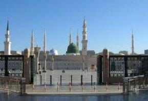 Moskeen i Medina, hvor Profeten Muhammed ligger begravet