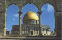 Omar-moskeen, også kaldet klippemoskeen i Jerusalem